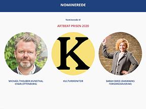 Sarah Smed nomineret til Artbeat Prisens hovedpris