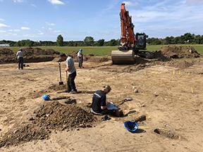 Udgravning på Højensvej i Svendborg